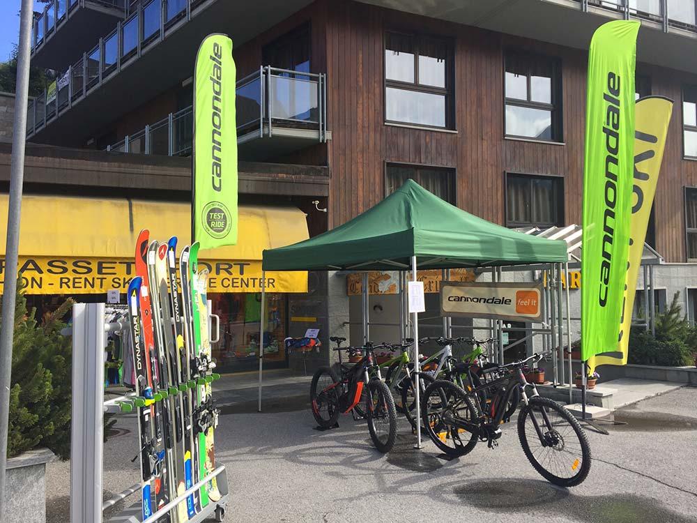 Noleggio bici, e-bike e MTB a Sestriere Passet sport
